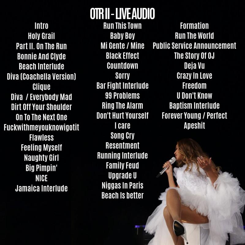 On The Run II - Live Album - Blog - Bey Everything